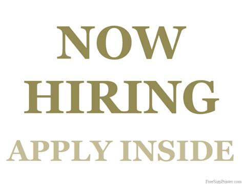Now Hiring Sign Template Www Imgkid Com The Image Kid Has It Now Hiring Sign Template Free
