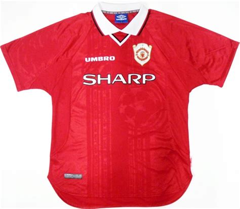 Jersey Manchester United Home 1998 1999 Ucl manchester united my soccer universe
