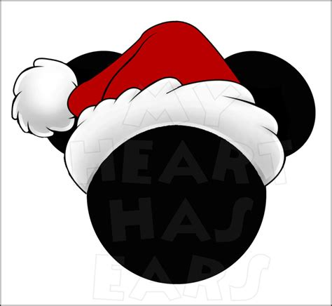 mickey santa hat clipart clipart suggest