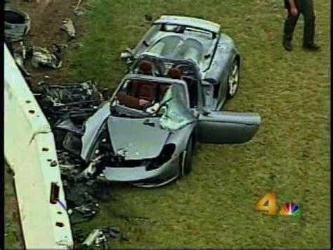 porsche blames driver in fatal paul walker car crash ny porsche carrera gt crash youtube