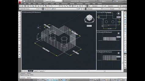 tutorial autocad 2d youtube autocad tutorial how to convert 2d into 3d youtube