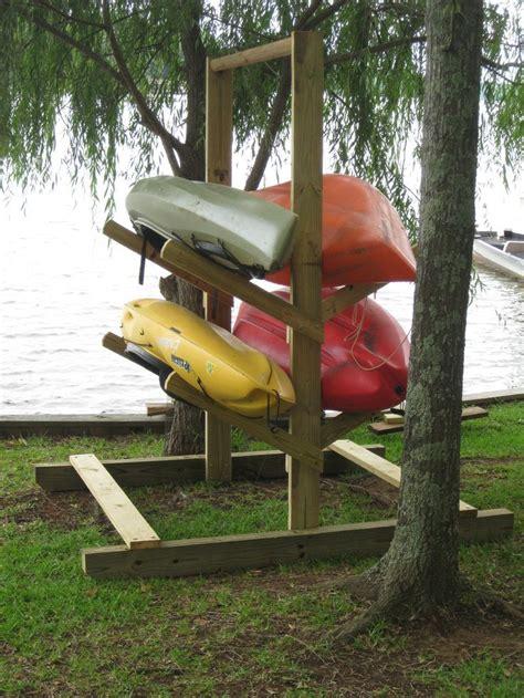 25 best ideas about kayak rack on kayak stand