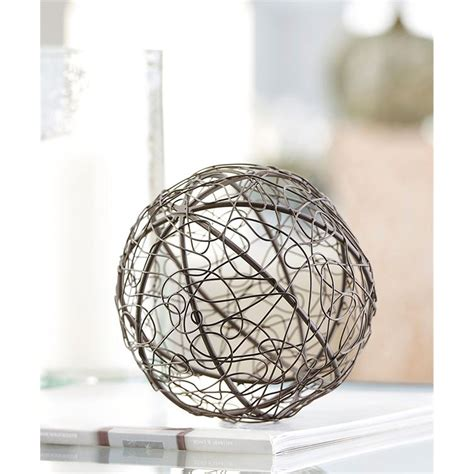 gift craft home decor giftcraft 086911 iron ball table decor hope home