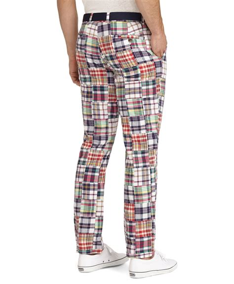 brothers fit patchwork madras for