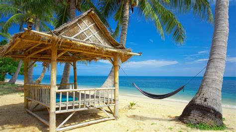 Belize Tiki Huts Beautiful Beach Resort Hd Wallpaper Hd Wallpaper Of