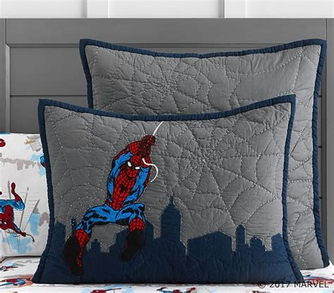cityscape comforter spider man cityscape quilted bedding pottery barn kids