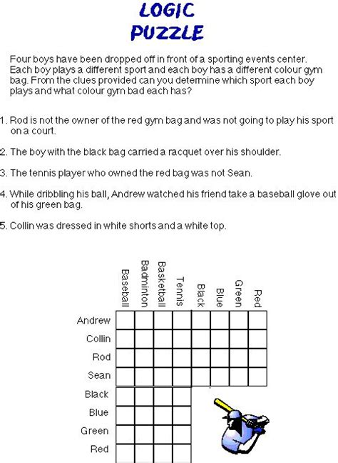 printable logic puzzles 5th grade logic puzzles for 4th graders printable math puzzles 5th