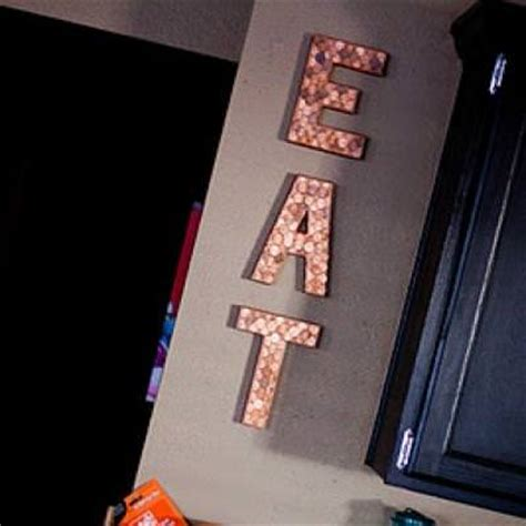 penny embellished eat letters kitchen decor tip junkie