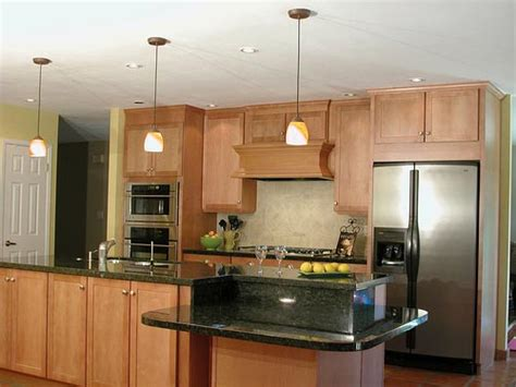 One Wall Kitchen With Island Designs | straight or one wall kitchen island design