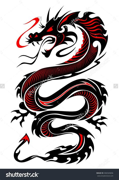 beautiful dragon tattoo designs 10 colored tribal