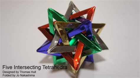Hull Origami - five intersecting tetrahedra hull
