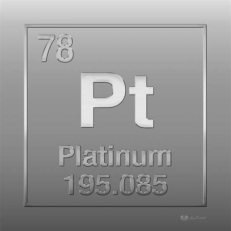 pt of elements platinum element symbol