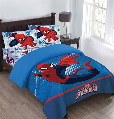 spiderman bedding set marvel the spiderman webbed wonder comforter set with