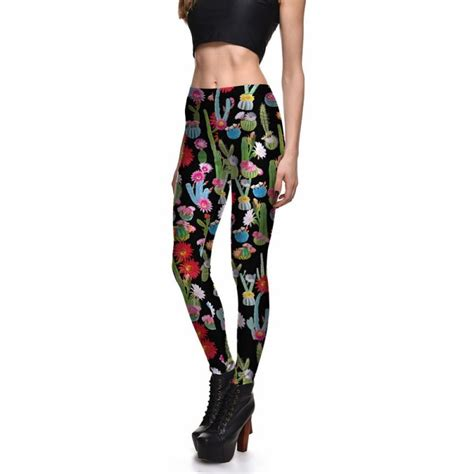 colorful workout colorful cactus flowers s printed