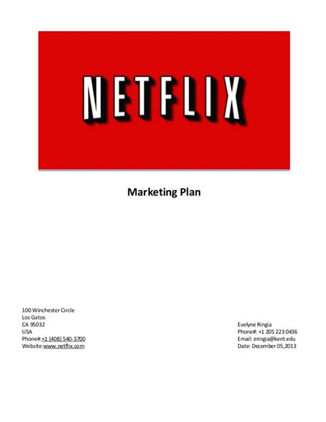 Netflix Mba Internship mba marketing project