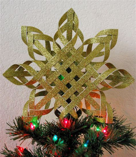 Handmade Tree Topper - woven paper tree topper happiness is