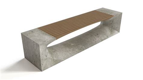 concrete and wood bench bench concrete wood flyingarchitecture
