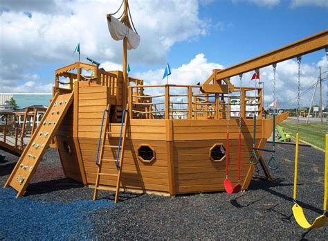wooden boat swing set playhouse swing set plans 911 pirate ship playhouse