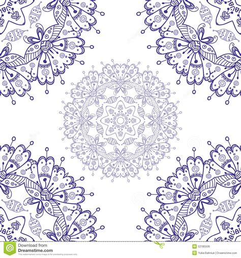 ornamental seamless pattern vector abstract background abstract vector seamless ornamental round mandala isolated