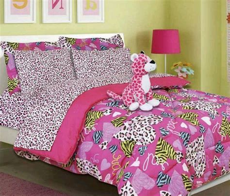 cheetah bed set girls twin comforter set bedding minto pink bed in a bag