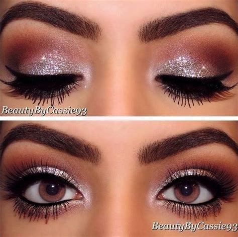 Rosita Silver Maroon 1 touch of glitter wedding day makeup