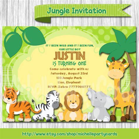 Zoo Invitation Letter Jungle Birthday Invitation Safari Birthday Invitation Jungle