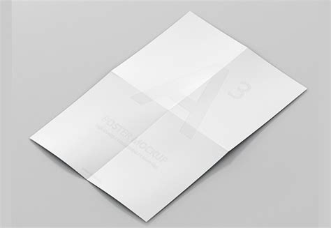 How Many Times Can Fold Paper - 17 folded paper mockup psd design trends