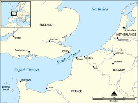 strait of map strait of dover