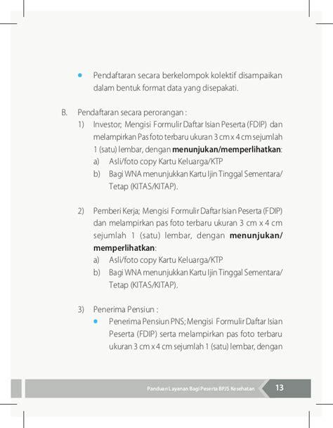 format daftar isian data dasar keluarga buku panduan layanan bagi peserta bpjs kesehatan