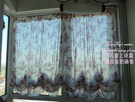 sheer balloon curtains country rose sheer voile austrian balloon curtain r style