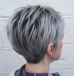 shag haircut brown hair with lavender grey streaks best 25 short gray hairstyles ideas on pinterest short