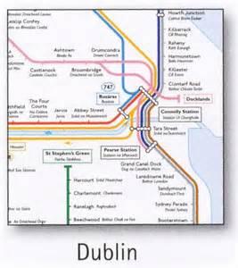Dart Route Map by Dublin Transport Map Ireland Tram Dart Bus And Ferry
