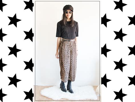 10 Ways To Wear Animal Graphics by 3 Ways To Wear Culottes Met Leopardprint