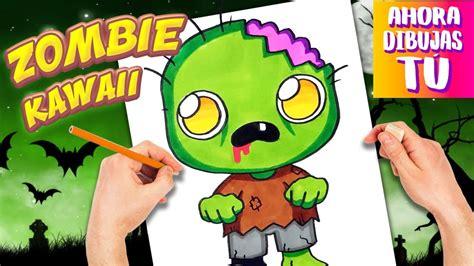 imagenes kawaii de hallowen como dibujar zombie kawaii dibujos halloween dibujos