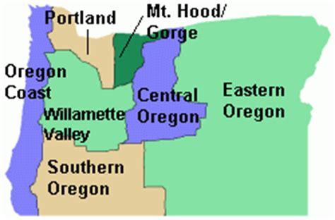 map of oregon regions oregon regions resorts bed and breakfasts lodges