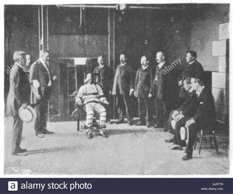 hinrichtung elektrischer stuhl live execution by electric chair united states 1898 stock photo