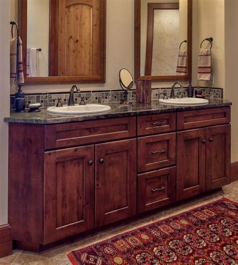 Knotty Alder Bathroom Vanity Gallery