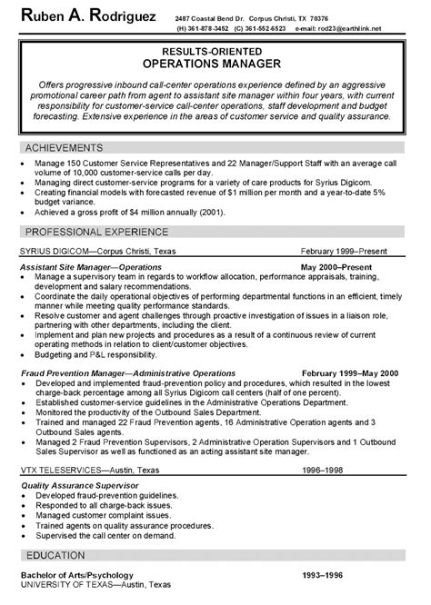 Resume Exles Management by 13 Property Manager Resume Sle Riez Sle Resumes Resume Sle Resume