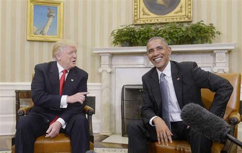 trump desk vs obama desk trump obama hold cordial 90 minute meeting in oval office