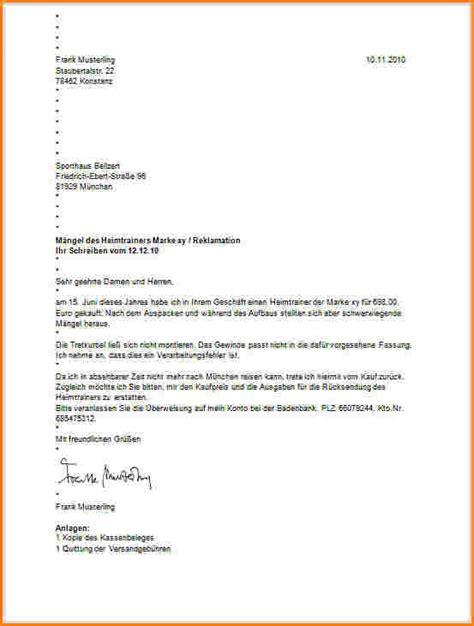 Schweiz Brief Beispiel Briefgestaltung Muster Reimbursement Format
