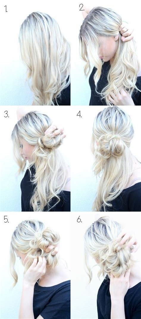 35 diy hairstyle tutorials with pictures fashion 11 diy messy bun tutorial for mediun to long hair