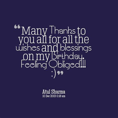 Birthday Thanks Quotes Birthday Quotes My Blessing Quotesgram