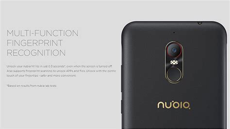 Nubia N1 Lite 4g 5 5 Inch Ram 2 16gb Fingerprint Battery 3000mah zte nubia n1 lite 5 5 inch 2gb 16gb smartphone black gold