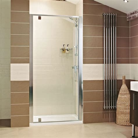 pivot door shower enclosure lumin8 shower enclosures showers