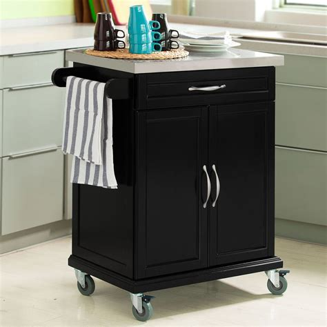 Kitchen Cabinet With Wheels by Sobuy 174 Wood Kitchen Cabinet Kitchen Cart Trolley With