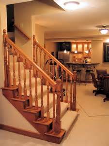 Stair Exciting Basement Stair Ideas For Beautifying The Refinishing Basement Ideas