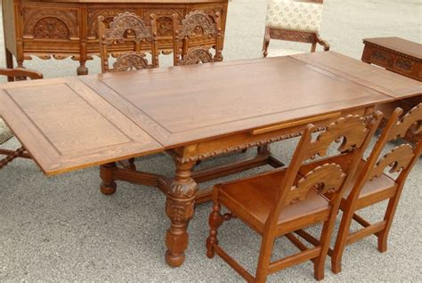 1920 dining room set antique thanksgiving 1920s 1930s jacobean 10 pc oak dining room set