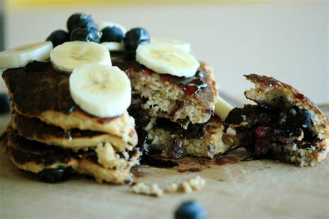 blueberry oatmeal cottage cheese pancakes la sbobba
