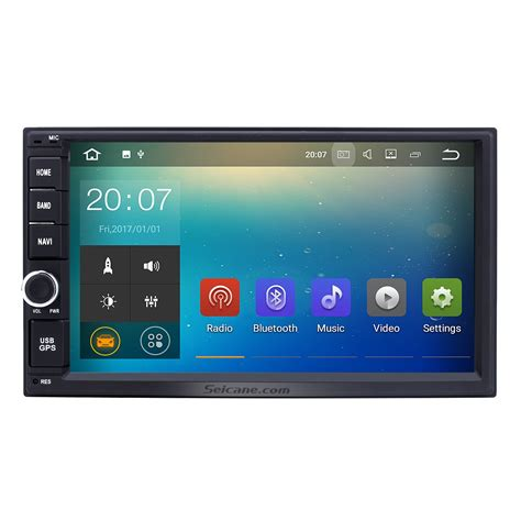 android gps android 7 1 2 din universal radio hd touchscreen gps navigation bluetooth stereo with wifi dvr