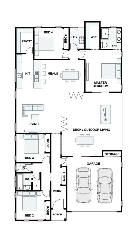 open plan floor plans australia open living house plans australia